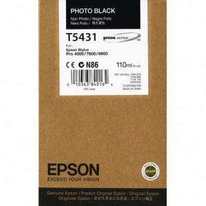 TUSZ ORYGINAŁ EPSON T5431 PHOTO BLACK 110ml