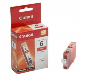 TUSZ ORYGINAŁ CANON BCI-6R BCI-6 RED NOWY