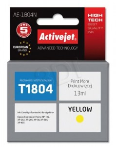 TUSZ ACTIVEJET EPSON T1804 AE-1804N YELLOW XP-102
