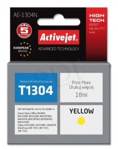 TUSZ ACTIVEJET EPSON T1304 AE-1304N YELLOW