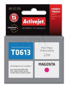TUSZ EPSON ACTIVEJET T0613 MAGENTA AE-613N D68 D88