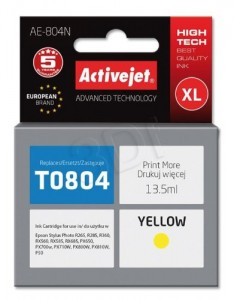 TUSZ ACTIVEJET EPSON T0804 AE-804N YELLOW