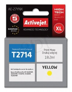 TUSZ ACTIVEJET EPSON T2714 YELLOW AE-27YNX 18,2ml