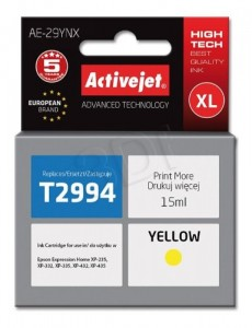 TUSZ ACTIVEJET EPSON T2994 YELLOW AE-29YNX 15ml