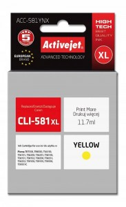 TUSZ ACTIVEJET CANON CLI-581Y XL ACC-581YNX YELLOW