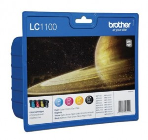BROTHER LC1100 LC1100C LC1100M LC1100Y LC1100BK X4