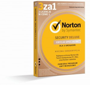 NORTON SECURITY DELUXE 3.0 PL 1 USER 3 DEVICE 12MO Edycja Specjalna BOX
