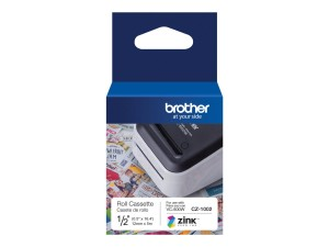 BROTHER CZ1002 Taśma CIĄGŁA PAPIER 12mm 5M VC-500W VC500W KOLOR