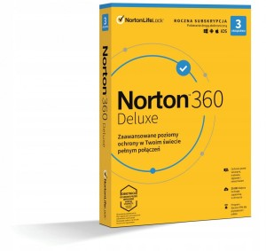 SYMANTEC NORTON SECURITY DELUXE 360 3U 12MIESIĘCY
